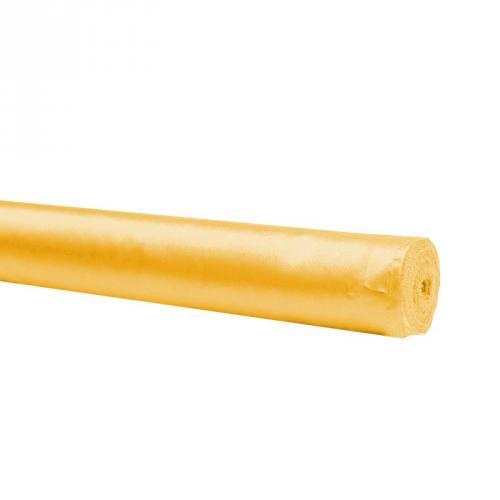Rouleau 30m satin uni jaune 110cm