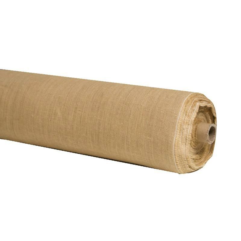 Rouleau 25m toile de jute naturelle grande largeur tissus price - Toile de jute castorama ...