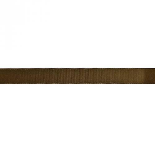 Ruban satin en bobine chocolat 13 mm