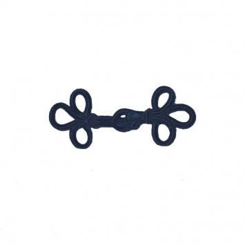 Brandebourg 5,5 cm noeuds bleus marine