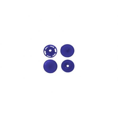 Boite de boutons-pression ronds en résine Color snaps bleu roi