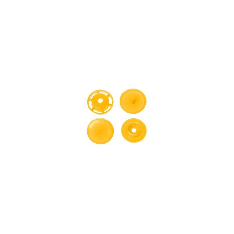Boite de boutons-pression ronds en résine Color snaps jaune