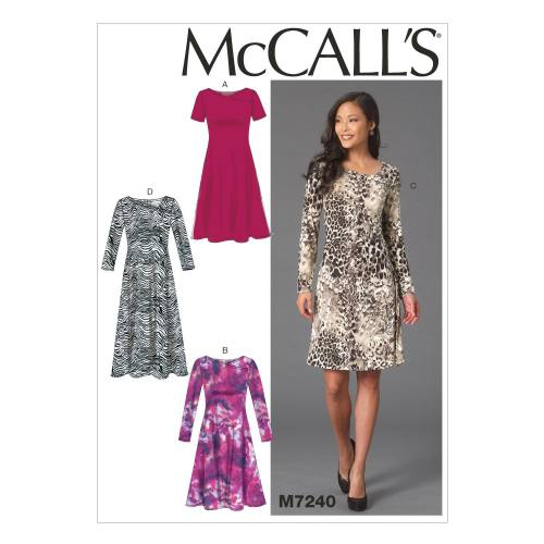 Patron Mc Call's M7240: Robe Taille: 44-52