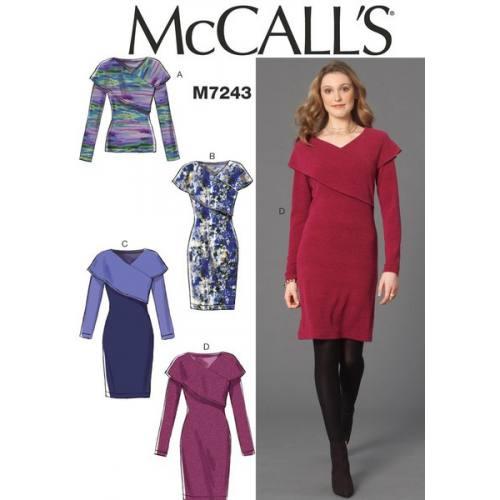 Patron Mc Call's M7243: Hauts et Robes Taille: 40-48