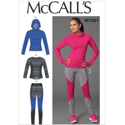 Patron Mc Call's M7261: Hauts et Collants Taille: 42-50
