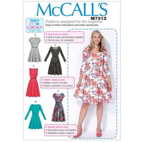 Patron Mc Call's M7313: Robe Taille: 46-52 - Tissus Price