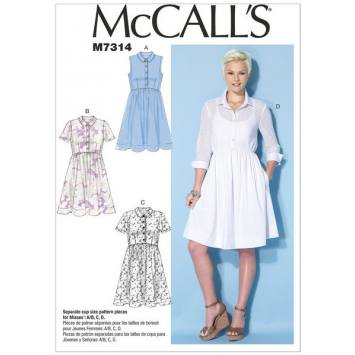 Patron Mc Call's M7313: Robe Taille: 36-44
