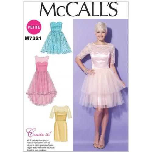 Patron Mc Call's M7321: Robe Taille: 34-42