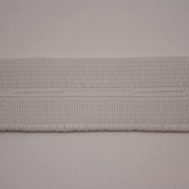 Elastique boutonnière blanc 20 mm