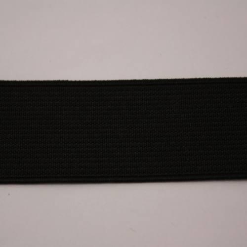 Elastique cotelé noir 30 mm