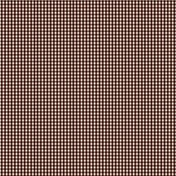 Coton vichy chocolat 3 mm