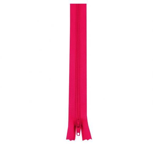Fermeture polyester 55 cm non séparable fuchsia col 112