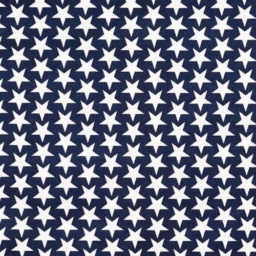 Coton étoiles monroe bleu marine