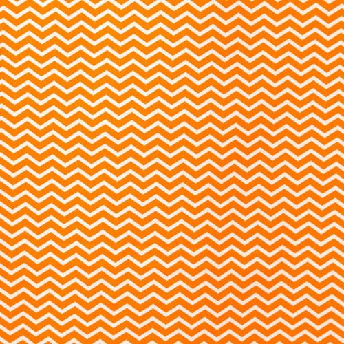 Coton chevron orange
