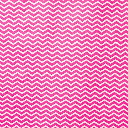 Coton chevron rose