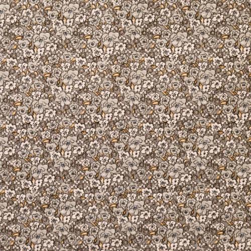 Coton fleurs kalmia grises
