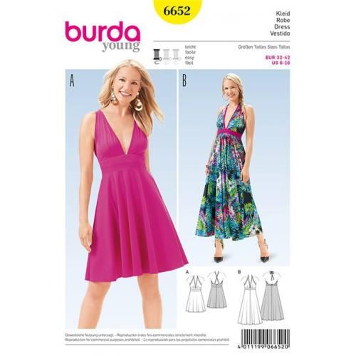 Patron Burda 6652 : Robe Taille : 32-42