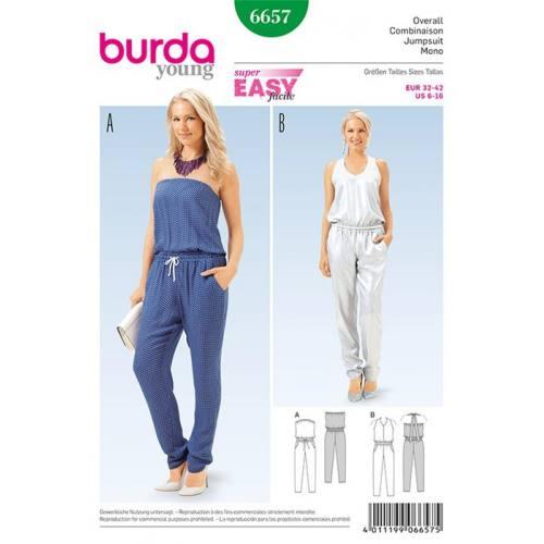Patron Burda 6657 : Combinaison Taille : 32-42