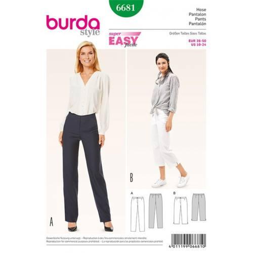 Patron Burda 6681 : Pantalon Taille : 36-50