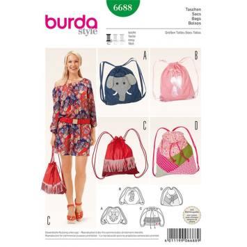 Patron Burda 6687 : Sacs