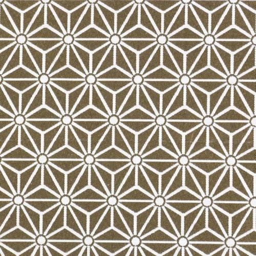 Jacquard or motif asanoha blanc