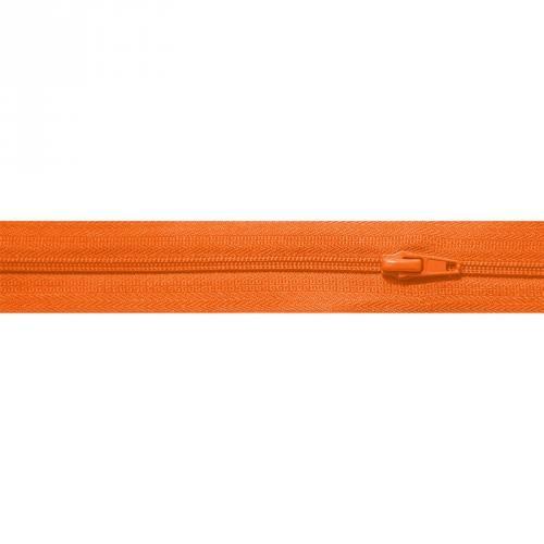 Fermeture à glissière au mètre orange