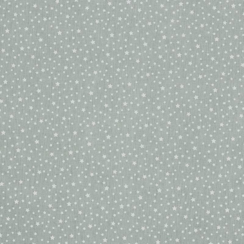 Coton gris clair étoilé