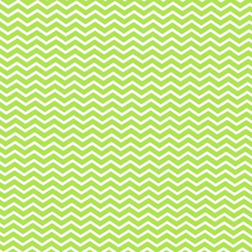 Coton chevron vert anis