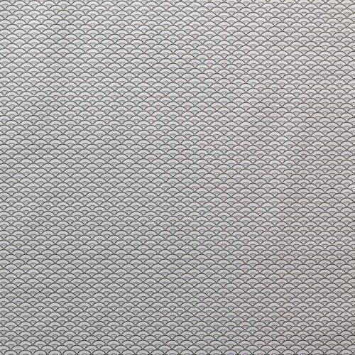 Coton seigaiha gris clair