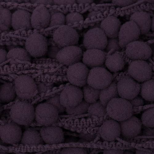 Galon pompon 15 mm violet