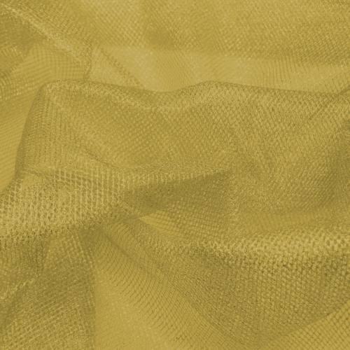 Tulle métallique doré