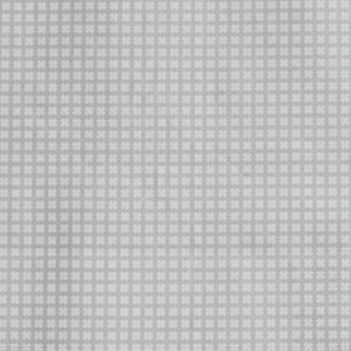 Coton gris clair imprimé petites croix