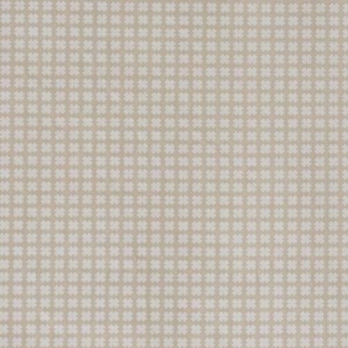 Coton taupe clair imprimé petites croix