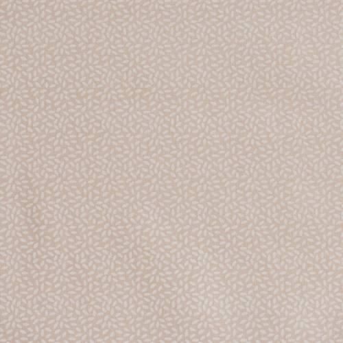 Coton taupe clair imprimé grain de riz