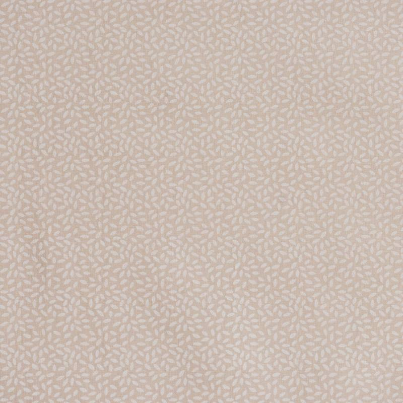 Coton taupe clair imprimé pétales