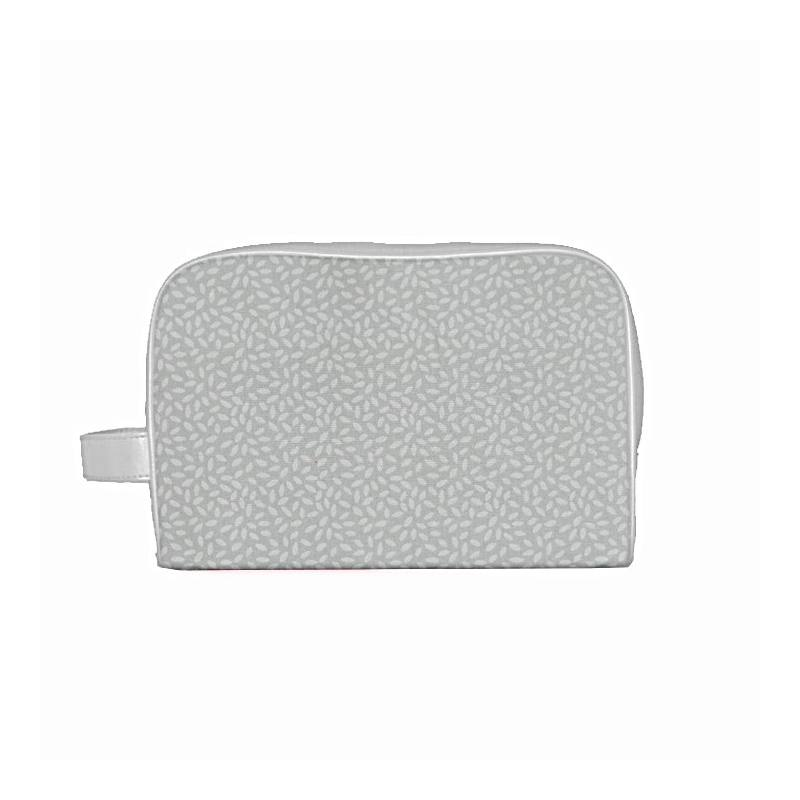 Coton gris clair imprimé pétales