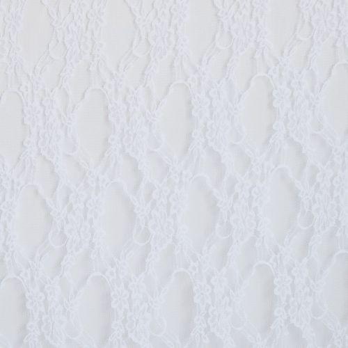 Dentelle extensible blanche à petites fleurs