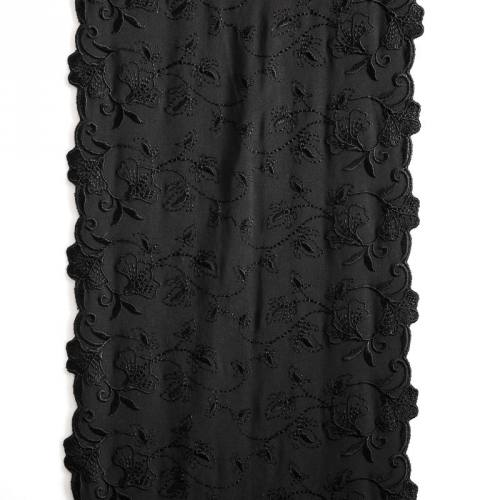 Ruban broderie noire 19 cm