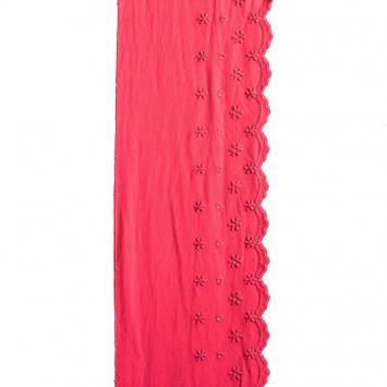 Ruban broderie anglaise rouge 11 cm