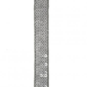 Bobine 10m Galon paillettes carrées anthracite
