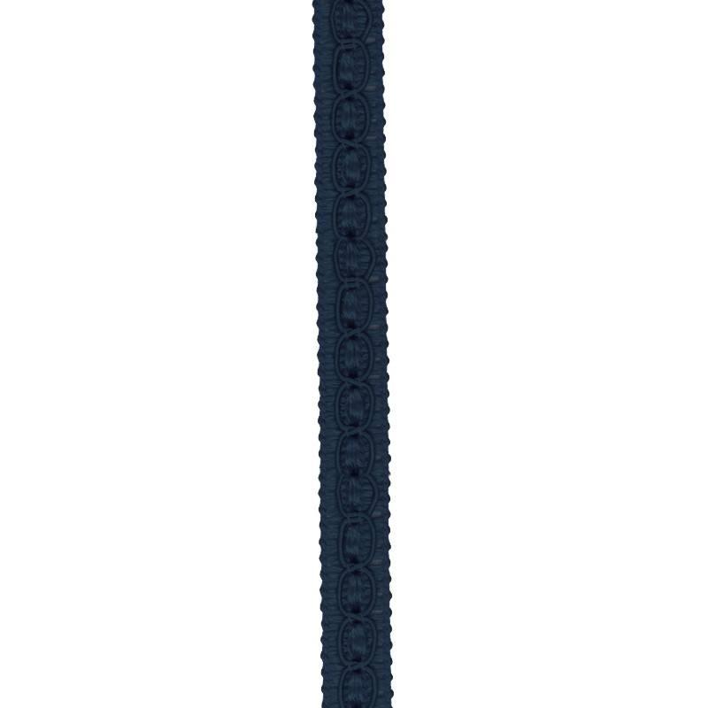 Galon fantaisie 10 mm bleu marine