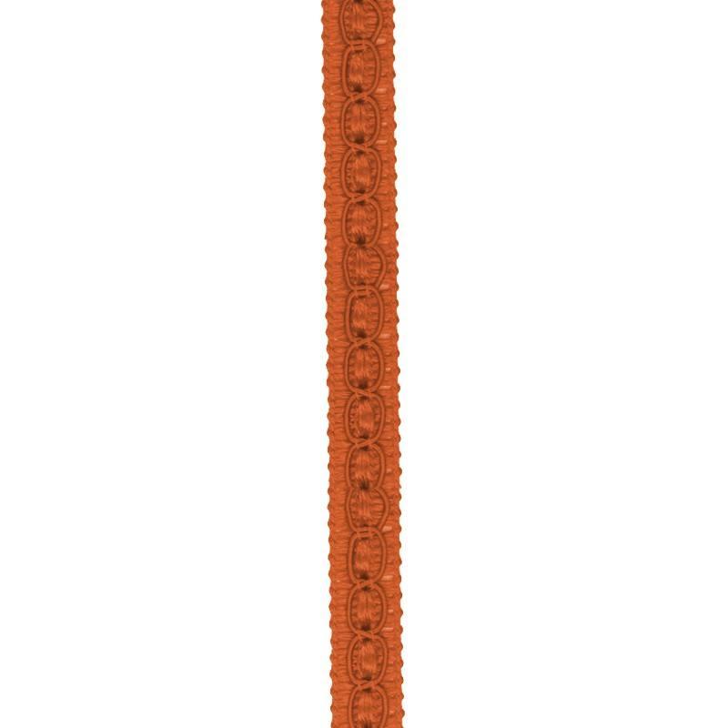 Galon fantaisie 10 mm orange foncé