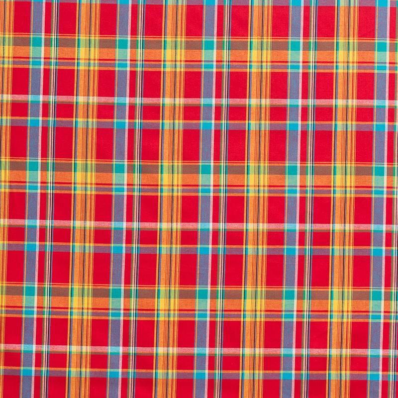 Coton madras rouge petits carreaux pas cher tissus price - Tissus rouge pas cher ...