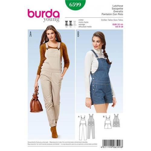 Patron Burda 6599 : Salopette Taille : 32-44