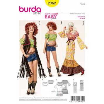 Patron Burda 2362 Carnaval : Hippie Taille: 32-44
