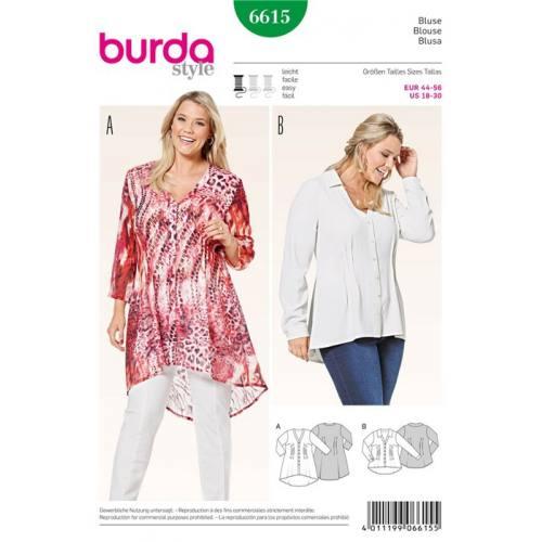 Patron Burda 6615: Blouse Taille : 44-56