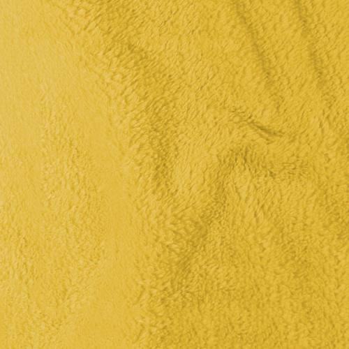 Tissu polaire microfibre jaune 140 cm