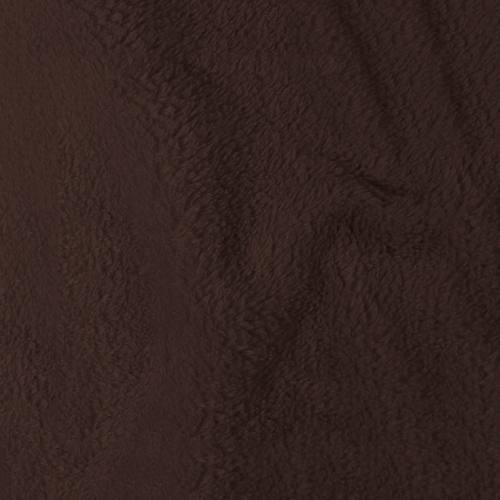 Tissu polaire microfibre marron 140 cm