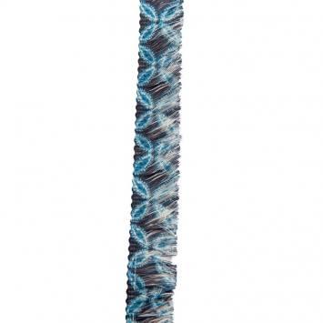 Ruban franges 30 mm fleurs bleues