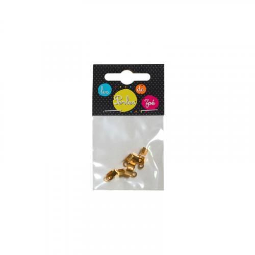 Embout lacet doré 5,5x3,5 mm
